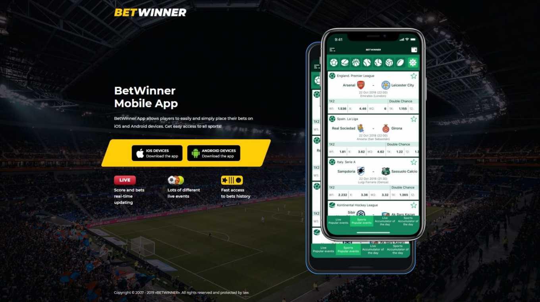 Betwinner app iOS